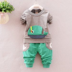 Trening bebelusi cu bluza gri - Balenuta