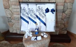 Trusou botez baietei cu albastru - Cu drag din partea nasilor