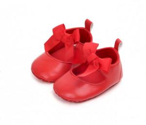 Pantofiori rosii cu fundita