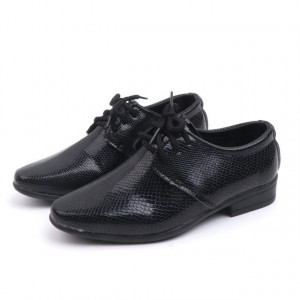 Pantofi eleganti negri pentru baietei