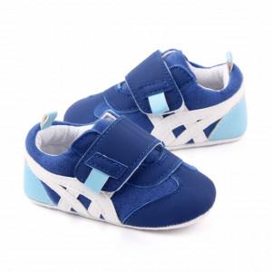 Adidasi albastri cu dungi albe
