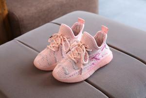 Adidasi roz cu sireturi ajustabile