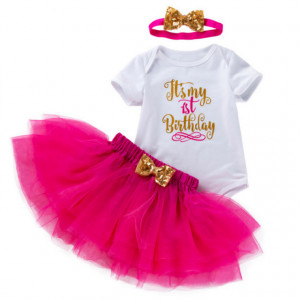 Body alb cu fustita tutu - It's my 1st birthday