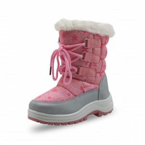 Cizme Apres Ski roz - Stelute