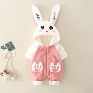 Combinezon din blanita pentru fetite - Bunny Love