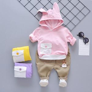 Costum cu hanorac roz - Bunny