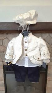 Costum elegant din 6 piese pentru botez