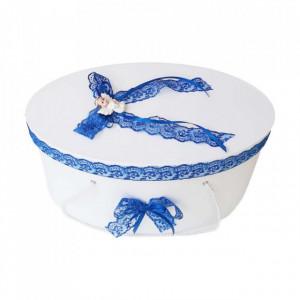 Cutie trusou botez dantela albastra si ingeras, Denikos® 382
