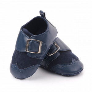 Pantofi eleganti bleumarine cu catarama