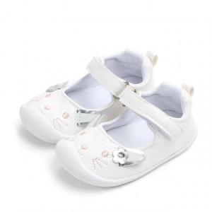 Pantofi fetite albi - Pisicuta