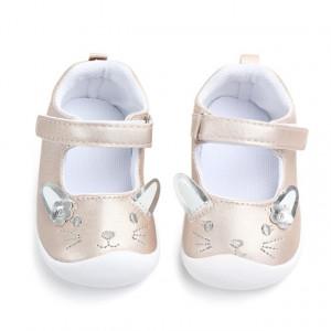 Pantofi fetite crem sidefati - Pisicuta