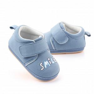 Pantofiori albastri pentru baietei - Smile