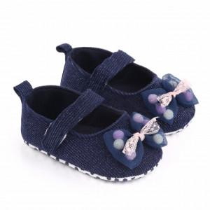 Pantofiori bleumarine cu fundita