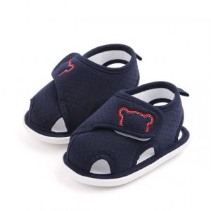 Pantofiori bleumarine decupati pentru baietei - Bear
