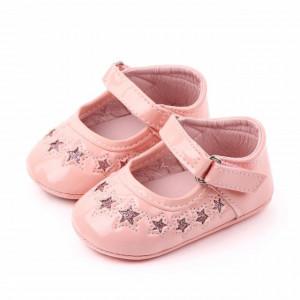 Pantofiori din lac roz cu stelute