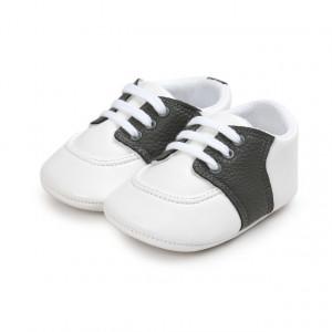 Pantofiori eleganti albi cu insertie gri petrol