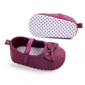 Pantofiori fetite mov cu fundita