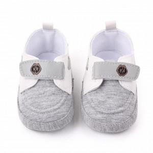 Pantofiori gri tip mocasini