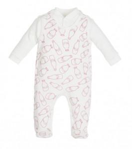 Salopeta pentru bebelusi cu bluzita - Colectia Milk Girl