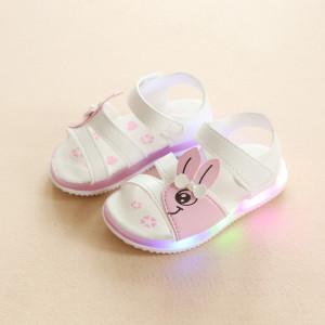 Sandale albe pentru fetite - Iepuras