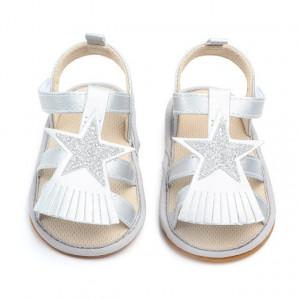 Sandale argintii - Steluta cu franjuri