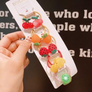 Set de 10 elastice pentru par - Fructe delicioase