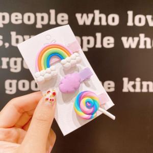 Set de 3 clame clips - Colorful Rainbow