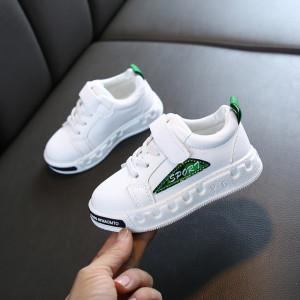 Adidasi albi pentru copii - Sport