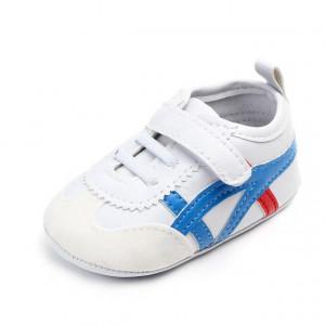 Adidasi bebelusi - Alb cu albastru