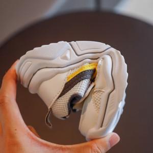 Adidasi pentru baietei cu insertie galbena