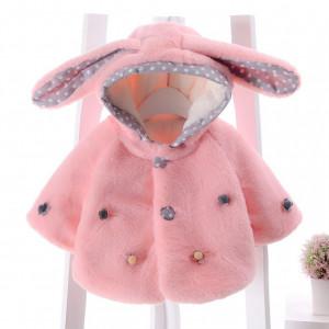 Blanita roz cu floricele aplicate - Bunny