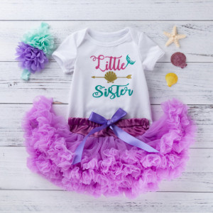 Body alb cu fustita tutu - Little Sister
