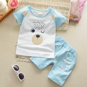 Costum bebelusi cu pantalonasi si tricou - Blue Bear