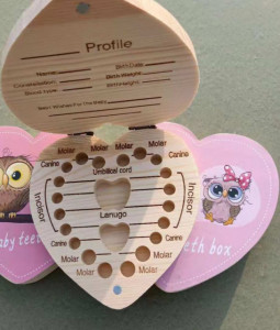 Cutiuta pentru primii dintisori pentru fetite