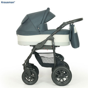 Krausman - Carucior 3 in 1 Jet Dark Grey