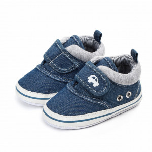 Pantofiori baietei din blugi - Masinuta