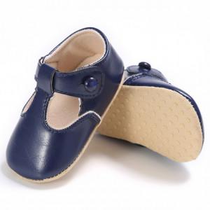 Pantofiori bleumarine cu nasturel