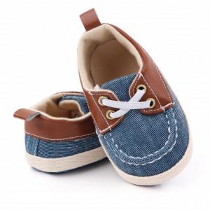 Pantofiori din blugi tip mocasini