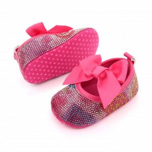Pantofiori fetite cu strasuri colorate - Curcubeu
