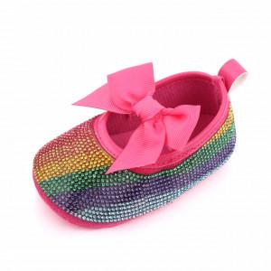 Pantofiori fetite cu strasuri - Curcubeu