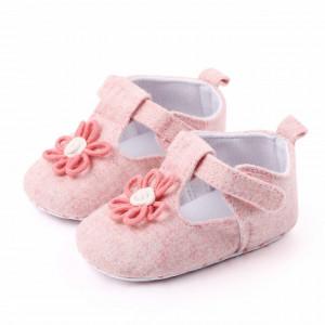 Pantofiori roz cu floricica roz