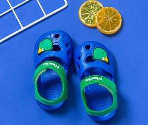 Papuci albastri tip sandaluta din cauciuc pentru baietei