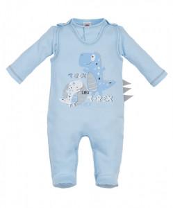 Salopeta cu bluzita pentru bebelusi - Colectia T-Rex