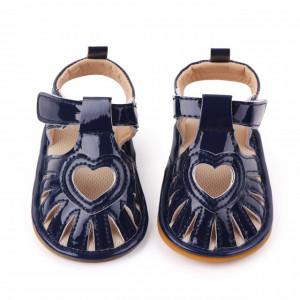 Sandale bleumarine pentru fetite - Heart