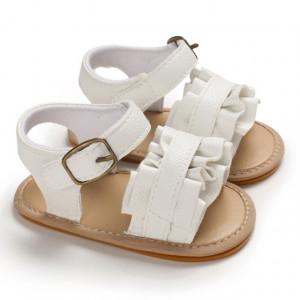 Sandale ivoire cu volanas pentru fetite