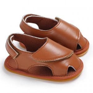 Sandale maro inchise in fata