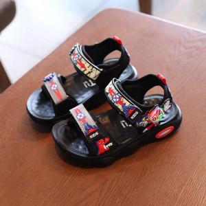 Sandale negre cu rosu - Super erou