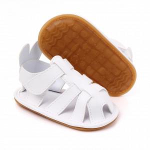Sandalute albe pentru bebelusi - Urechi de iepuras