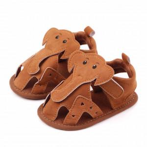 Sandalute maro pentru baietei - Elefantelul