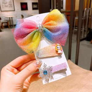 Set de 3 accesorii pentru par - Colorful